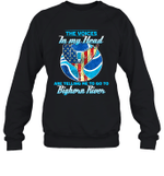 The Voice In My Head Telling Me To Go Fishing At Bighorn River Crewneck Sweatshirt