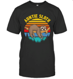 Sloth Funny Family Auntie T-shirt
