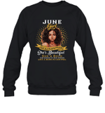 June Girl She Slays,She Prays She's Beautiful Birthday Crewneck Sweatshirt Tee