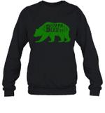 Papa Bear Hunting Papa Family Crewneck Sweatshirt