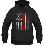 American Flag Hockey Family Hockey Boyfriend Hoodie Sweatshirt