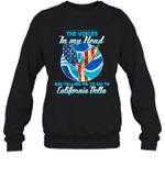 The Voice In My Head Telling Me To Go Fishing At California Delta Crewneck Sweatshirt