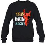 This Family Rock Mom Crewneck Sweatshirt