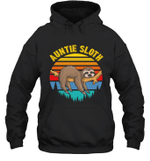 Sloth Funny Family Auntie Hoodie Sweatshirt