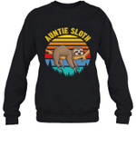 Sloth Funny Family Auntie Crewneck Sweatshirt