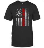 American Flag Hockey Family Hockey Daddy T-shirt