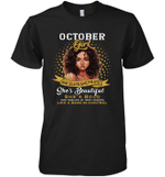 October Girl She Slays,She Prays Shes Beautiful Birthday Sleeve Crew
