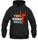 This Family Rocks Grandma Hoodie Sweatshirt Tee
