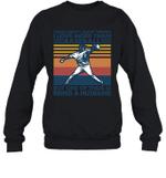 Aren t Many Things I Love Than Baseball But Being Husband Family Crewneck Sweatshirt