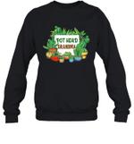 Pot Head Family Gardening Grandma Crewneck Sweatshirt