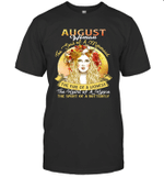 August Woman The Soul Of A Mermaid Birthday T-shirt