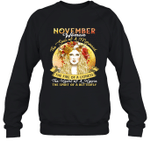 November Woman The Soul Of A Mermaid Birthday Crewneck Sweatshirt