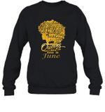Black Queens Are Born In June Birthday Gift Crewneck Sweatshirt