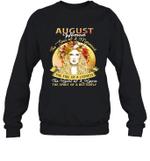 August Woman The Soul Of A Mermaid Birthday Crewneck Sweatshirt