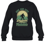Hide And Seek Legends Are Born In February Birthday Crewneck Sweatshirt