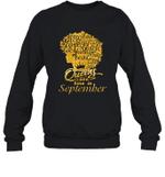 Black Queens Are Born In September Birthday Gift Crewneck Sweatshirt