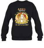 April Woman The Soul Of A Mermaid  Birthday Crewneck Sweatshirt
