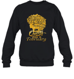 Black Queens Are Born In February Birthday Gift Crewneck Sweatshirt