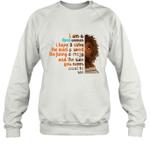 I m An April Woman Funny Birthday Crewneck Sweatshirt