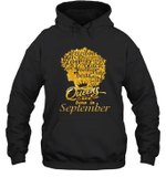 Black Queens Are Born In September Birthday Gift Hoodie Sweatshirt