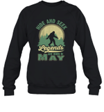Hide And Seek Legends Are Born In May Birthday Crewneck Sweatshirt