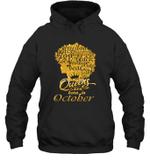Black Queens Are Born In October Birthday Gift Hoodie Sweatshirt