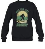Hide And Seek Legends Are Born In August Birthday Crewneck Sweatshirt