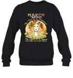 March Woman The Soul Of A Mermaid Birthday Crewneck Sweatshirt