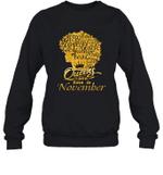 Black Queens Are Born In November Birthday Gift Crewneck Sweatshirt