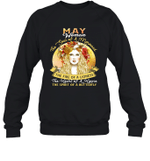 May Woman The Soul Of A Mermaid Birthday Crewneck Sweatshirt