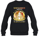 September Woman The Soul Of A Mermaid Birthday Crewneck Sweatshirt