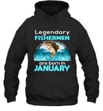 Fishing Legend Born In April   Funny Fisherman Gift Birthday Hoodie Sweatshirt