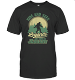 Hide And Seek Legends Are Born In January Birthday T-shirt