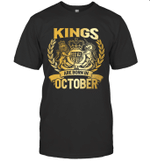 Kings Are Born In October Birthday Gift