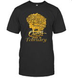 Black Queens Are Born In February Birthday Gift T-shirt