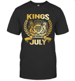 Kings Are Born In July Birthday Gift