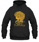 Black Queens Are Born In February Birthday Gift Hoodie Sweatshirt
