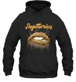 Sagittarius Zodiac Birthday Golden Lips For Black Women Hoodie Sweatshirt