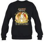 June Woman The Soul Of A Mermaid Birthday Crewneck Sweatshirt