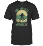 Hide And Seek Legends Are Born In July Birthday T-shirt
