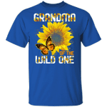 Grandma Of The Wild One T-shirt Sunflower Tee MT06
