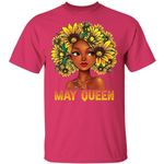 Sunflower Afro Hair May Queen T-shirt Birthday Tee