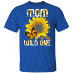Mom Of The Wild One T-shirt Sunflower Tee MT06