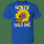 Auntie Of The Wild One T-shirt Sunflower Tee MT06