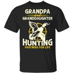 Grandpa And Granddaughter Hunting Partners For Life T-shirt MT06