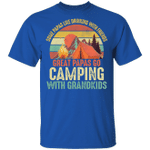 Camping T-shirt Great Papas Go Camping With Grandkids Tee MT06