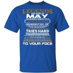 Legends T-shirt Birthday Are Born In May Tee