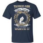 Taurus Girl T-shirt Birthday I Know I Can Be Difficult & Stubborn Zodiac Tee
