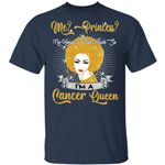 Me Princess No I'm A Cancer Queen T-shirt Afro Zodiac Birthday Tee