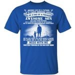 Dad Of Awesome October Son T-shirt Birthday Tee